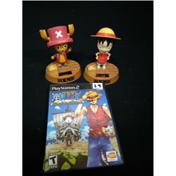 P.S.#2 SHONEN JUMPS NEPIECE GAME WITH BOBBLE HEAD BOY+MOUSE TOYS