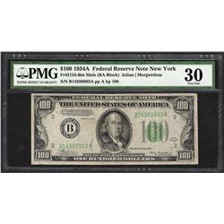 1934A $100 Federal Reserve Note Fr.2153-B PMG Very Fine 30