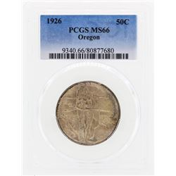 1926 Oregon Commemorative Half Dollar Coin PCGS MS66