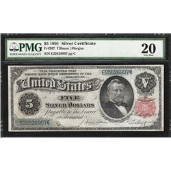 1891 $5 Silver Certificate Note Fr.267 PMG Very Fine 20