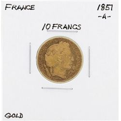 1857-A France 10 Francs Gold Coin