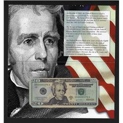 2004 $20 Federal Reserve Note Uncirculated LOW SERIAL Number