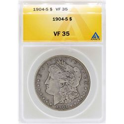 1904-S $1 Morgan Silver Dollar Coin ANACS VF35