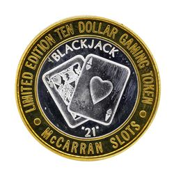 .999 Silver McCarran International Airport $10 Casino Limited Edition Gaming Tok