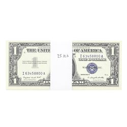Lot of (25) Consecutive 1957A $1 Silver Certificate STAR Notes Uncirculated
