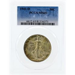 1941-D Walking Liberty Half Dollar Silver Coin PCGS MS65