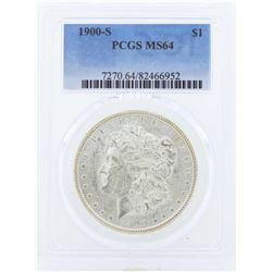 1900-S $1 Morgan Silver Dollar Coin PCGS MS64