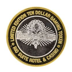 .999 Silver Rio Suite Hotel & Casino $10 Casino Limited Edition Gaming Token