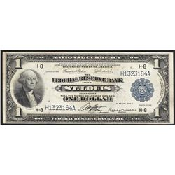 1918 $1 Federal Reserve Bank Note St. Louis