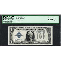 1928B $1 Funnyback Silver Certificate Note Fr.1602 PCGS Very Choice New 64PPQ