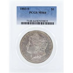 1883-S $1 Morgan Silver Dollar Coin PCGS MS64