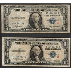 1935A $1 R & S Pair of Experimental Silver Certificate Notes