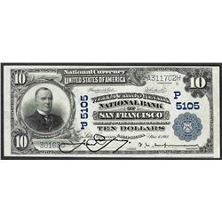 1902 $10 PB San Francisco, CA National Currency Note CH# 5105