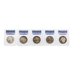 Lot of (5) 1884-O $1 Morgan Silver Dollar Coin PCGS MS64