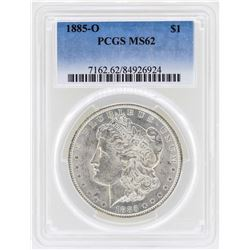 1885-O $1 Morgan Silver Dollar Coin PCGS MS62