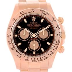 Rolex Cosmograph Daytona 18K Rose Gold Chronograph Watch