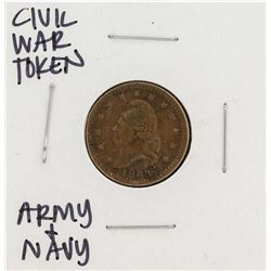 1863 Civil War Token Army & Navy
