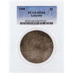 1900 $1 Lafayette Commemorative Silver Dollar Coin PCGS MS64