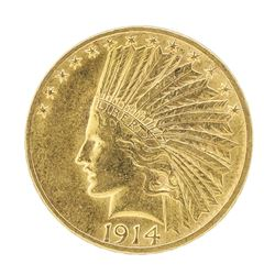 1914 $10 Indian Head Eagle Gold Coin