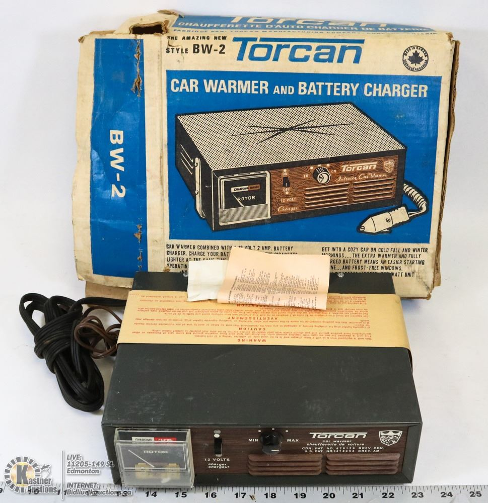 VINTAGE TORCAN CAR WARMER & BATTERY CHARGER