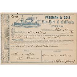 Freeman & Company Receipt for Package sent from US Mint to Branch Mint in San Francisco