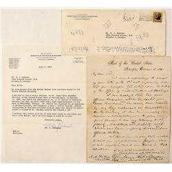 Letter to J. M. Patton from Director of the U. S. Mint in Philadelphia