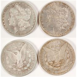 Two Scarcer Date Morgan Dollars incl. CC