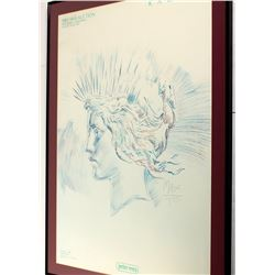 """Print Framed & Matted """"Liberty Lady"""""""