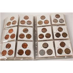 Coin Album with Euros and World Coins