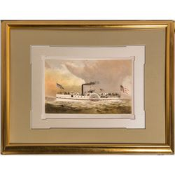 S. S. General Hooker (Rescue Ship for the S. S. Republic) Lithograph