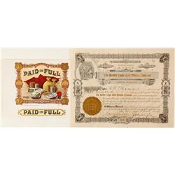 Double Eagle Gold Mining Company Stock Certificate