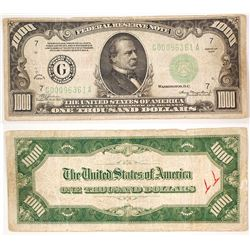 US $1,000 Note