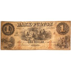 $1 Bank of Fulton Note