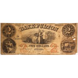 $2 Bank of Fulton Note