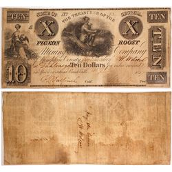 $10 Pigeon Roost Mining Company Note