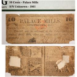 Palace Mills 10 cent note