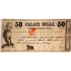 Palace Mills 50 cent Note