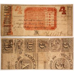 Palace Mills $4 Note