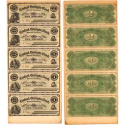 Uncut Central Bank of Georgia Note Sheet