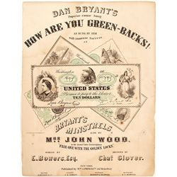 """How Are You Green-Backs!."" Sheet Music"