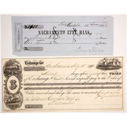 Two California Gold Rush Checks