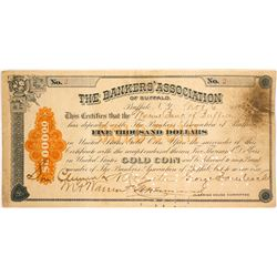 The Bankers' Association of Buffalo $5,000 Gold Coin Deposit, 1893