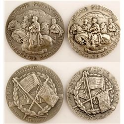 Silver Stone Mountain Medals