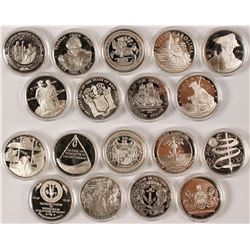 Sterling Silver Revolutionary War Commemorative Medals