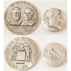 Two Silver Medals: Andrew Jackson and Grant & Lee
