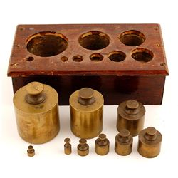 Brass Scale Weight Set