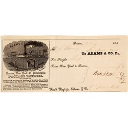 Very Early Adams & Co. Receipt, c.1840s, Gold Rush Connection