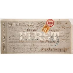 Wells Fargo First of Exchange, Folsom, CA, 1867, Payable in Gold Coin