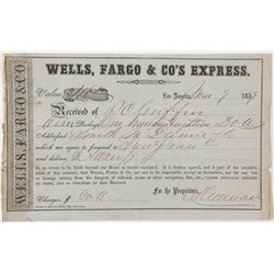 Ultra Rare Los Angeles Gold Rush Paper for Wells, Fargo & Co's Express