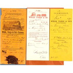 Commission and COD Wells Fargo Envelopes